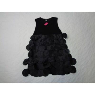 140-es fekete pamutruha pikkelyrátéttel - Zara