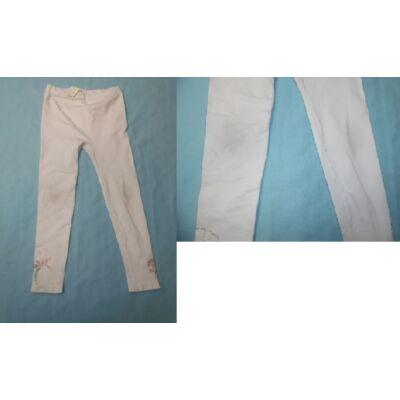128-as fehér flitteres leggings