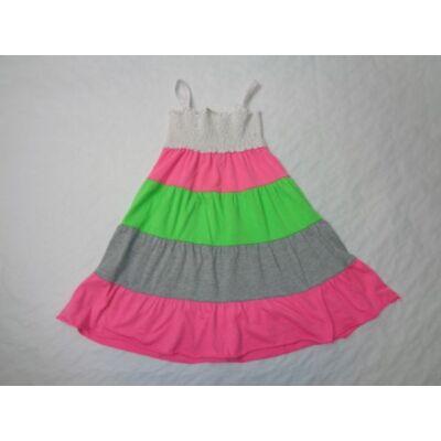 122-es színes csíkos nyári ruha