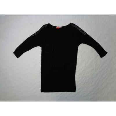 158-164-es fekete ujján strasszos tunika - H&M