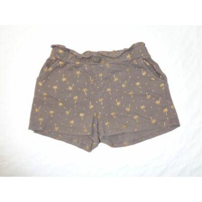 122-128-as pálmafás barna lány short - H&M