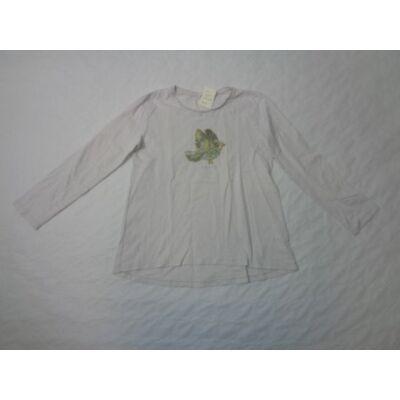 140-es törtfehér madaras pamutfelső - Zara