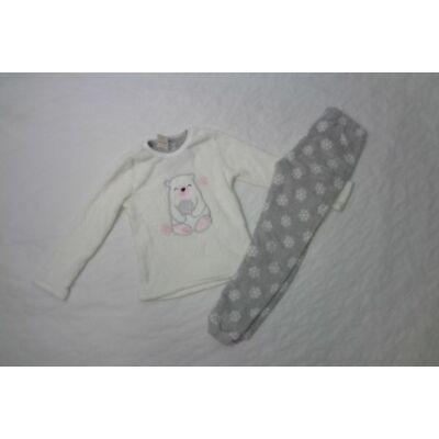 122-128-as fehér-szürke jegesmedvés pizsama - Pepco
