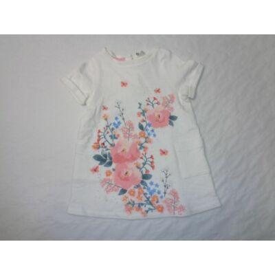 80-as fehér virágos vastagabb pamutruha - H&M