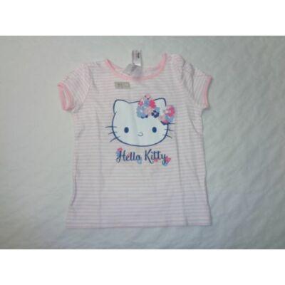92-es fehér-rózsaszín csíkos póló - Hello Kitty - felicity.hu ... 0287f4c64c