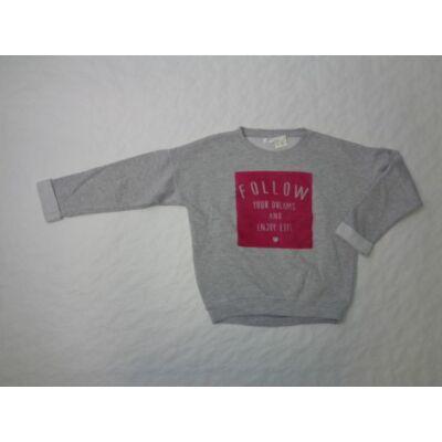 134-140-es szürke-pink pulcsi - Pepco