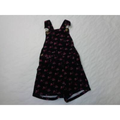 92-98-as fekete virágos düftin kantáros short