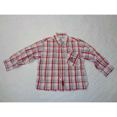 110-es piros-fehér-kék kockás ing - C&A