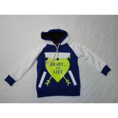 104-es kék-fehér feliratos lány pulóver - ÚJ