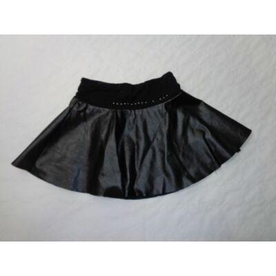 110-116-os fekete bőrhatású alábélelt szoknya - Miss Azur