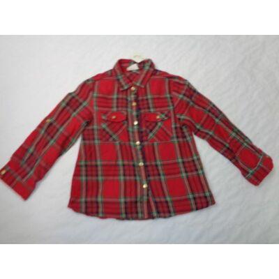 104-es piros kockás blúz - Zara