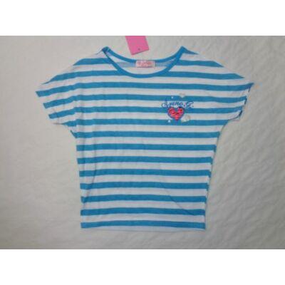 134-es kék csíkos lány póló - Arino - ÚJ