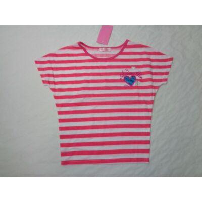 158-as pink csíkos lány póló - Arino - ÚJ