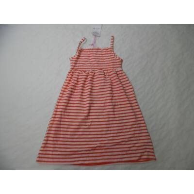 152-es piros-fehér csíkos spagettipántos ruha - ÚJ