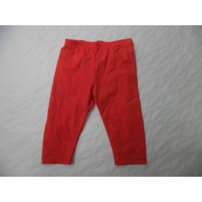 116-os piros térdig érő leggings - ÚJ
