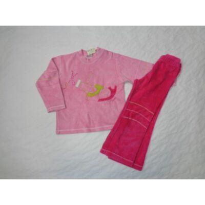110-es rózsaszín feliratos plüss pizsama