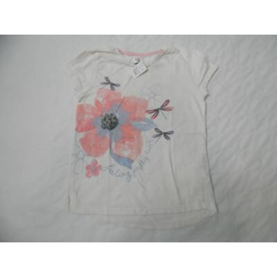 122-es fehér virágos póló - F&F