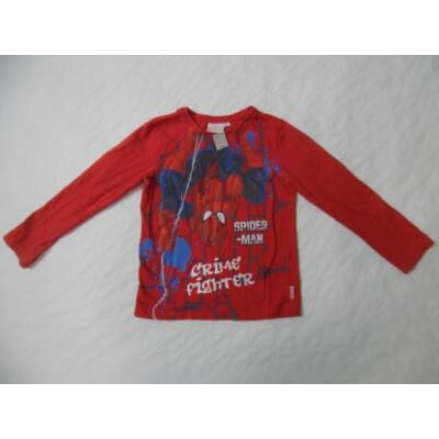 128-as piros pamutfelső - Spiderman, Pókember