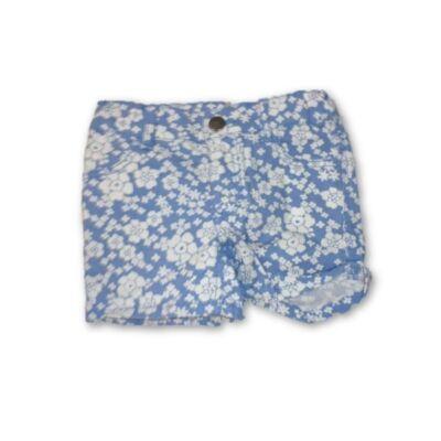 98-as kék-fehér virágos short - H&M
