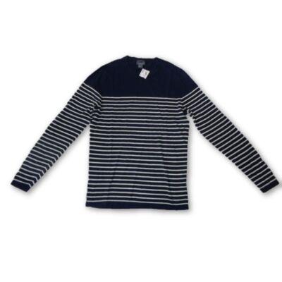 Férfi M-es kék-fehér csíkos pulóver - H&M