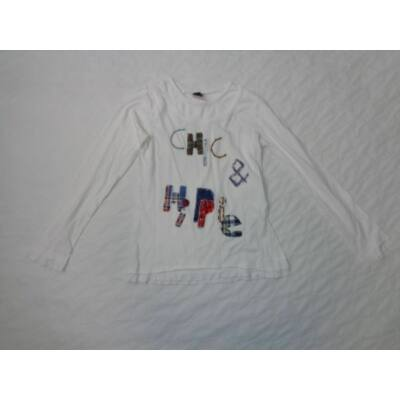 140-es fehér feliratos lány pamutfelső - Zara