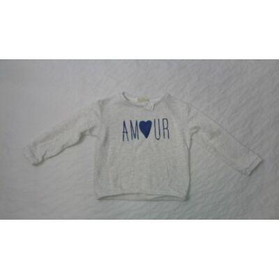 140-es szürke feliratos lány pulóver  - Zara