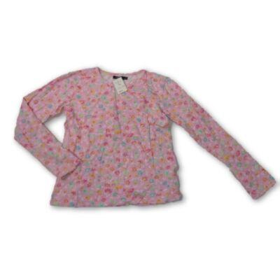 152-158-as rózsaszín virágos pamutfelső - Litkey