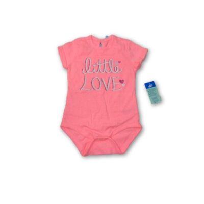 80-as rózsaszín csillogó feliratos rövidujjú body - Pepco - ÚJ