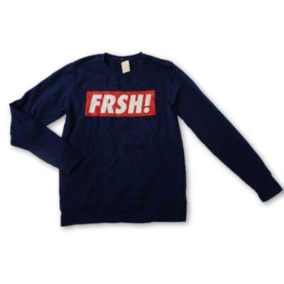 Férfi L-es sötétkék feliratos pulcsi - Fishbone