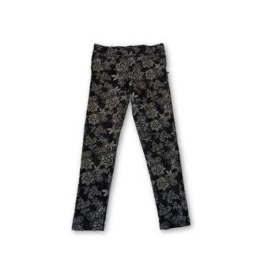 116-os fekete virágos leggings - F&F