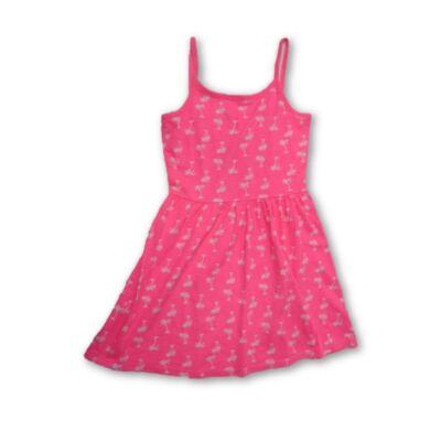 128-134-es rózsaszín pálmafás pántos ruha - F&F