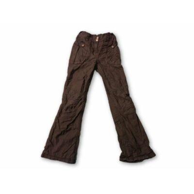 122-es szürke pamuttal bélelt bőszárú  lány nadrág - C&A
