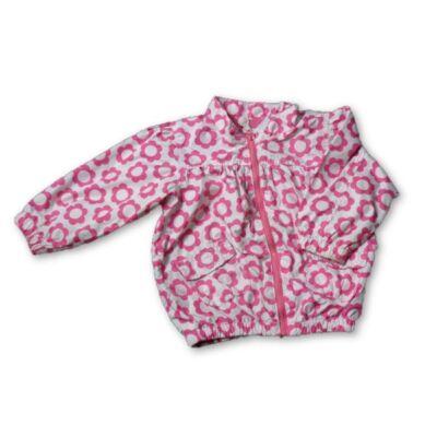 86-os rózsaszín virágos átmeneti kabát - H&M