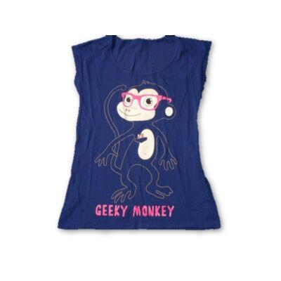 152-158-as kék majmos póló - New Look