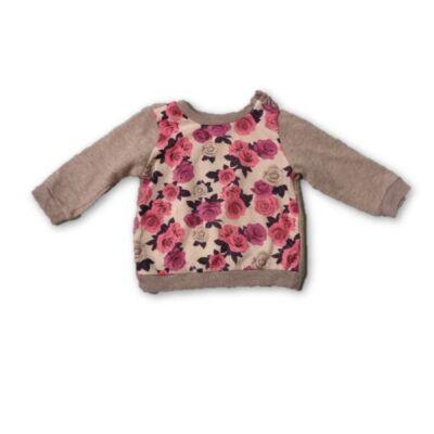 74-es szürke rózsás pulcsi - Pepco