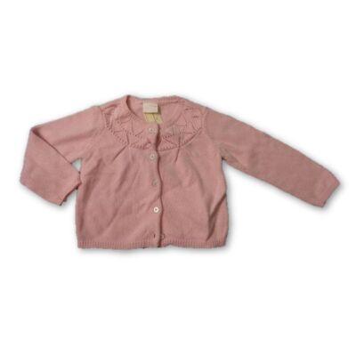 80-as rózsaszín kötött kardigán - F&F
