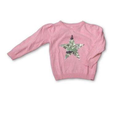 98-as rózsaszín simogatós flitteres pulóver - Young Dimension