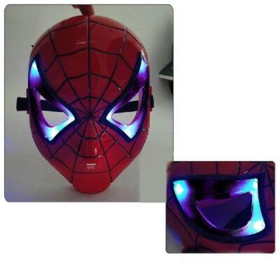 Világító Pókember, Spiderman álarc - ÚJ