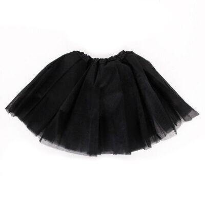 104-110-es fekete tüll-tütü, balettszoknya - ÚJ