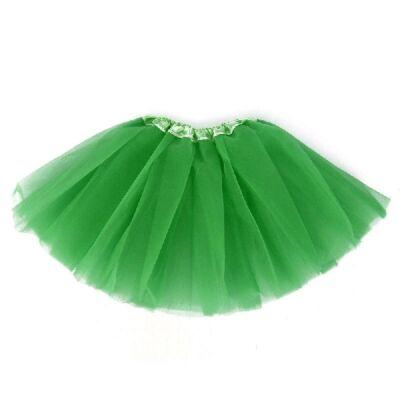 104-110-es zöld tüll-tütü, balettszoknya - ÚJ