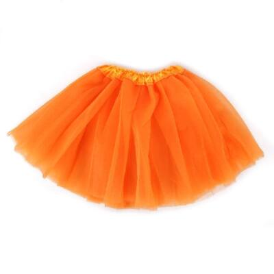 104-110-es narancssárga tüll-tütü, balettszoknya - ÚJ