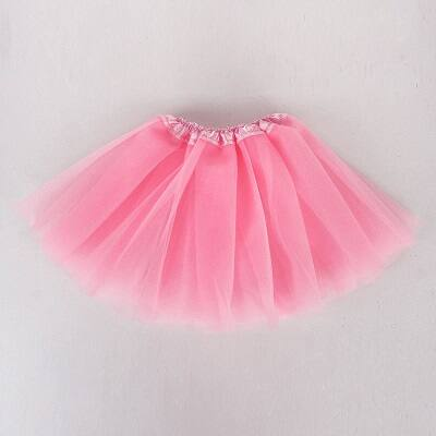104-110-es rózsaszín tüll-tütü, balettszoknya - ÚJ