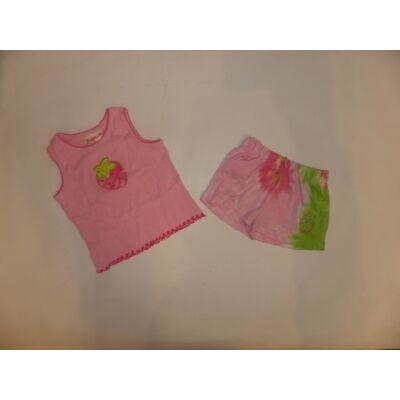 110-es rózsaszín epres nyári pizsama - Flapdoodles
