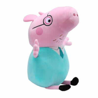 30 cm-es plüss Peppa Papa - Peppa Pig - ÚJ