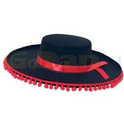 Sombrero (mexikói) fekete-piros - ÚJ