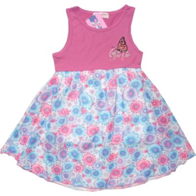 116-os mályvaszínű virágos ruha - Arino - ÚJ