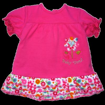 86-os pink virágos tunika - ÚJ