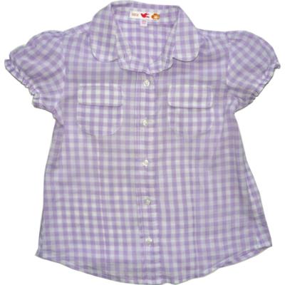 110-es lila kockás rövidujjú blúz - Marks & Spencer