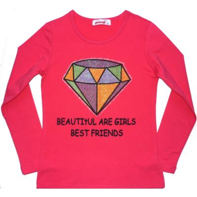 158-as pink csillogó gyémántos pamutfelső - Goloxy - ÚJ