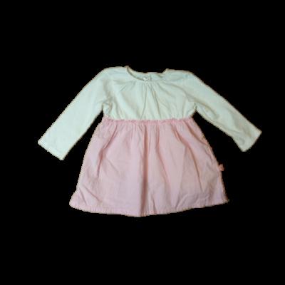 86-os fehér-rózsaszín pöttyös ruha